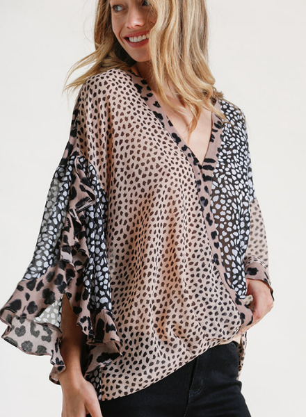 Artful Animal Surplice Top