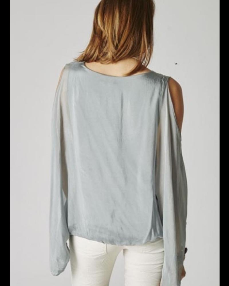 Off the Shoulder Silk Top