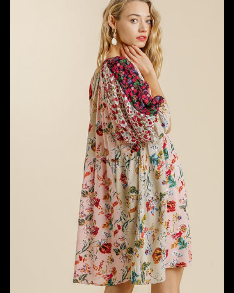 Fields of Flowers Mandarin  Dress
