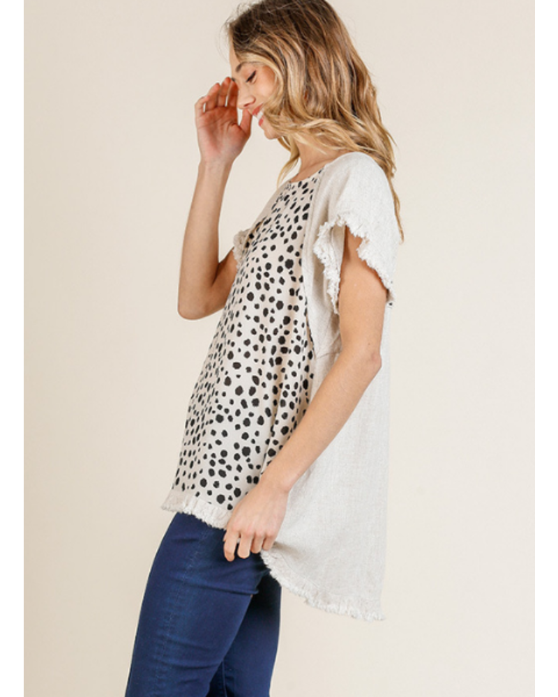 Dalmation Frayed Top