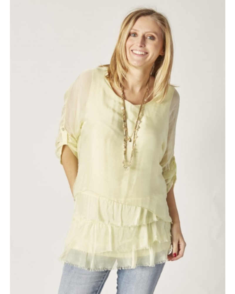 Tiered Silk Top