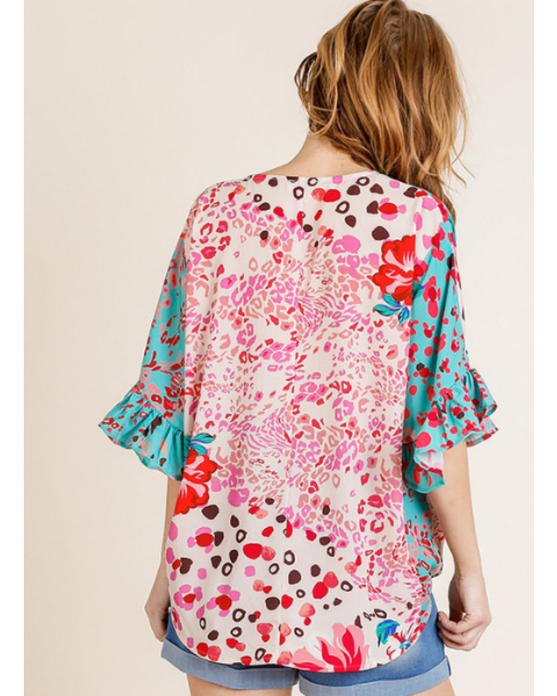 Tropical Animal Crossover Top