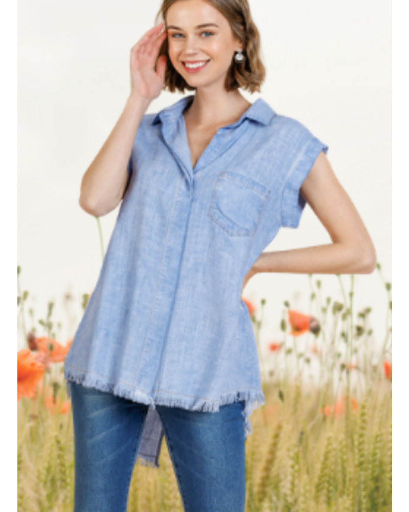 Easy Breezy Mineral Wash Top