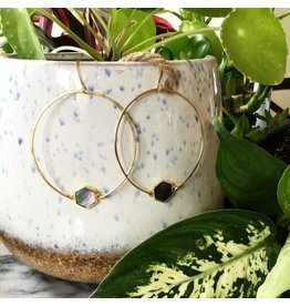 Cat D.esigns Jewelry Cat D.esigns Hammered Brass Hoops