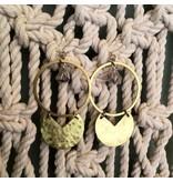 Cat D.esigns Jewelry Cat D.esigns Brass/Herkimer Diamond Earrings