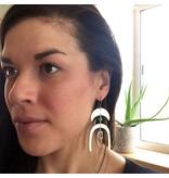 Cat D.esigns Jewelry Cat D.esigns Brass/Chrysoprase/Quartz Earrings