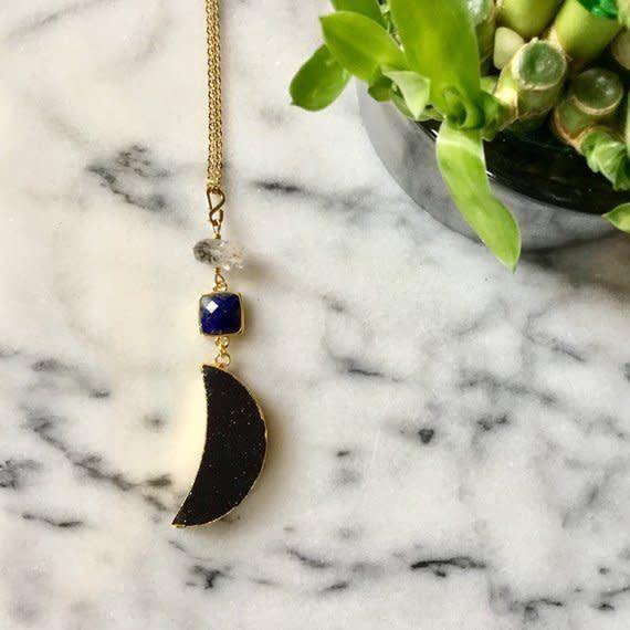 Cat D.esigns Jewelry Cat D.esigns Goldstone Luna Necklace