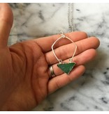 Cat D.esigns Jewelry Cat D.esigns Hammered Sterling Silver/Chrysoprase Necklace
