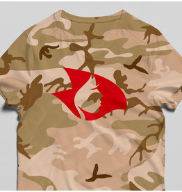 Radical V-Neck Camo Tee (Tan)