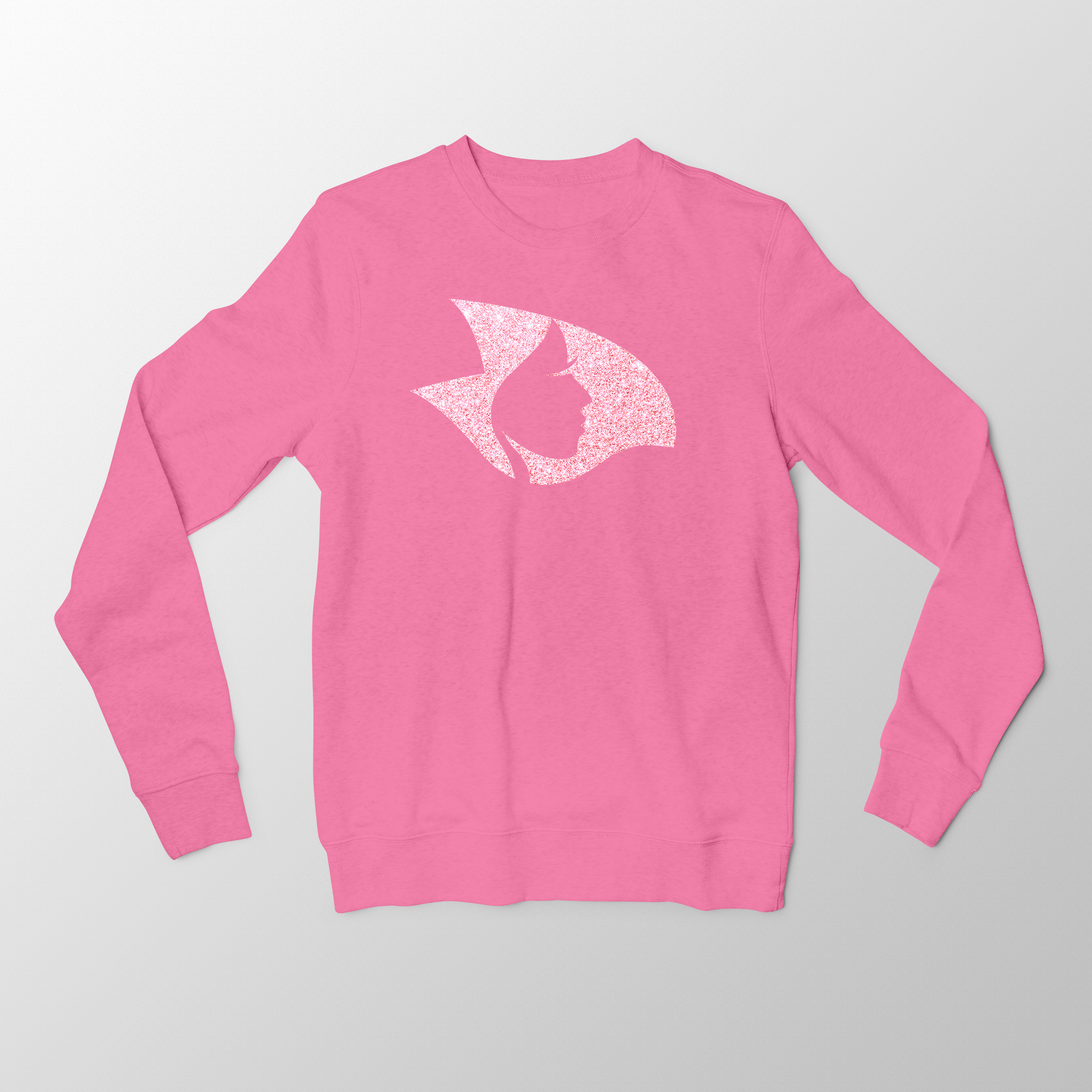 Pink Crewneck Sweatshirt w/ Pink Crystalline Radical Head