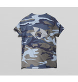 Radical V-Neck Camo Tee (Navy)
