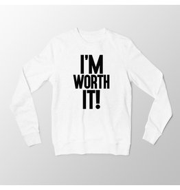 """I'm Worth It"" - White Long Sleeve T-Shirt"