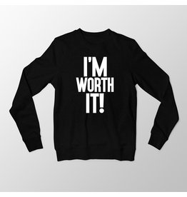 """I'm Worth It"" - Black Long Sleeve T-Shirt"