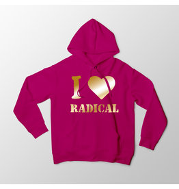 """""""I Heart Radical"""" - Pink Hoodie"""