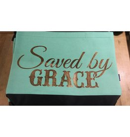 Saved by Grace (Teal) - Tote Bag