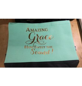 Amazing Grace (Teal) - Tote Bag