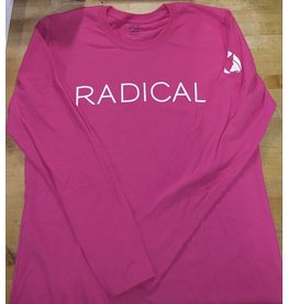 """RADICAL"" Pink Long Sleeve T-Shirt"