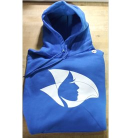Royal Blue Hoodie w/ White Radical Head -X-Large