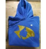 Royal Blue Hoodie w/Gold Radical Head - X-Large