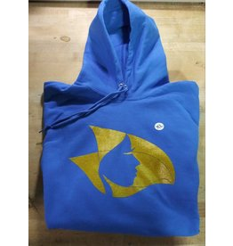 Royal Blue Hoodie w/Gold Radical Head - X-Large