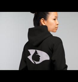 Black Zip Hoodie w/White Radical Head
