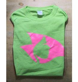 Lime Green Tee w/ Pink Radical Head - Large