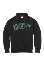 MV Sports Flock 1/4 Pullover Black Sweatshirt