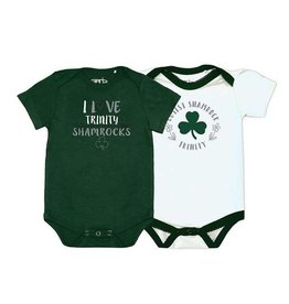 Garb Girl's White Cutest Shamrock Onesie