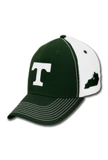 Ouray Green Snap Back White Mesh Hat