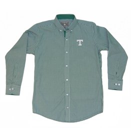 Final Sale Dress Shirt Falling Leaf Green Checked