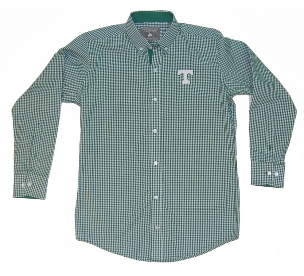 Dress Shirt Falling Leaf Green Checked