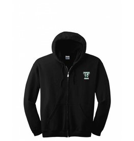 Digital Promotions Theatre Full Zip Black Sweatshirt Embroidered