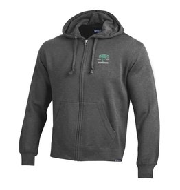 Gear Full Zip Hoodie Big Cotton Charcoal Heather