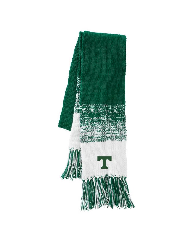 Hollaway Knit Green White Scarf