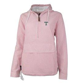 Charles River Pink Seersucker Pullover