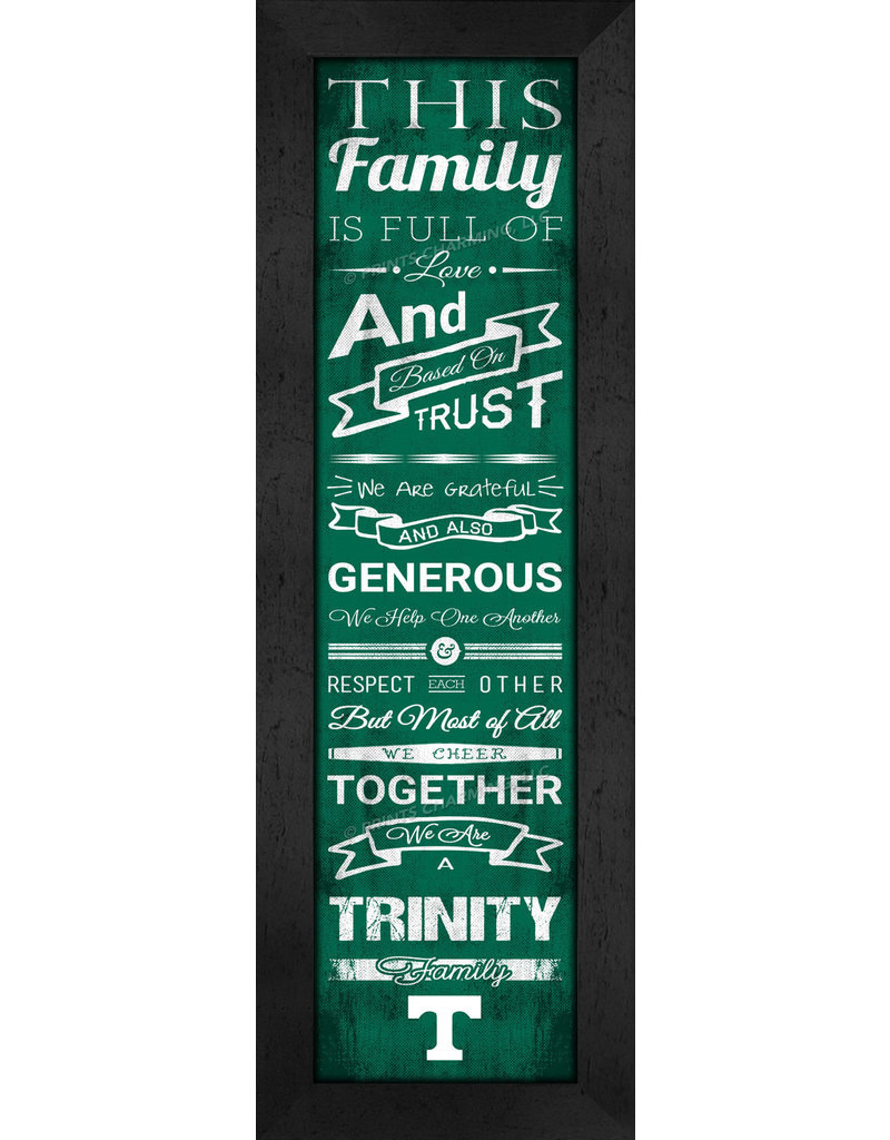 Print Charming Family Cheer Black Frame with Glass