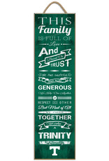 Print Charming Family Cheer Plaque w/Rope