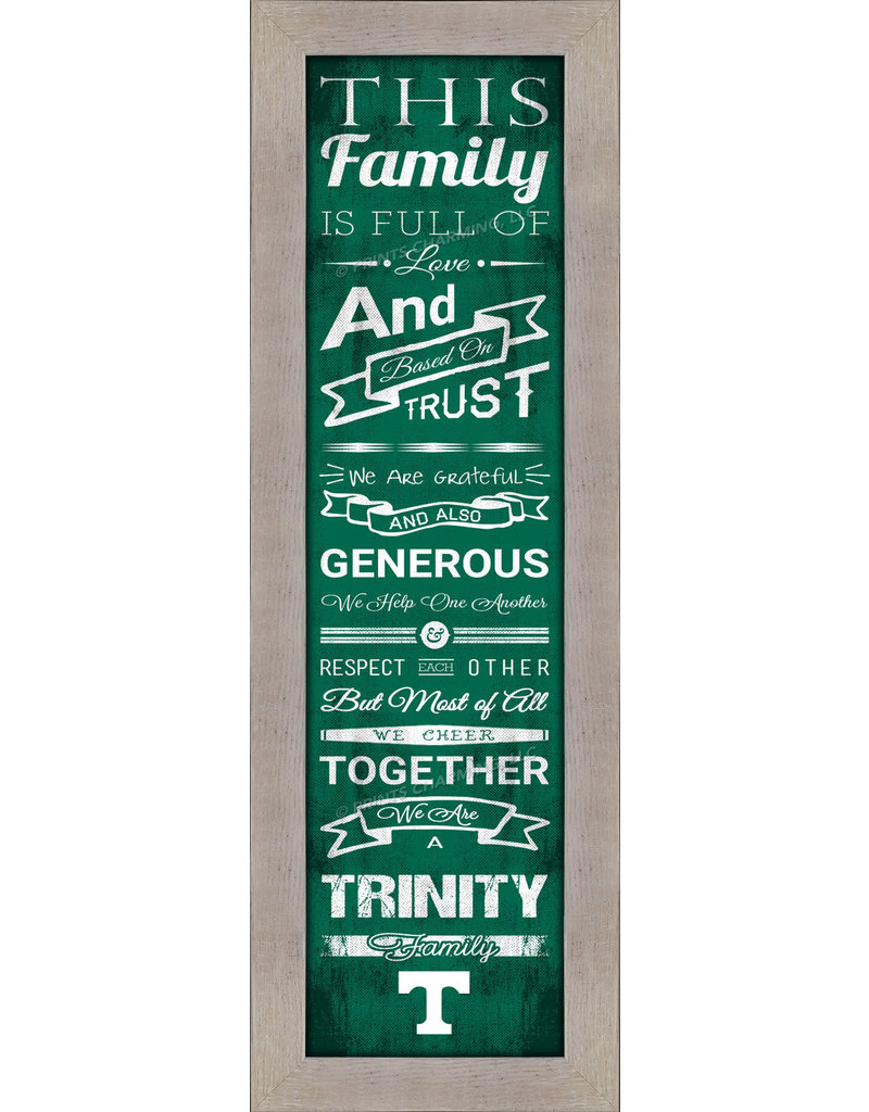 Print Charming Family Cheer Dirftwood Frame