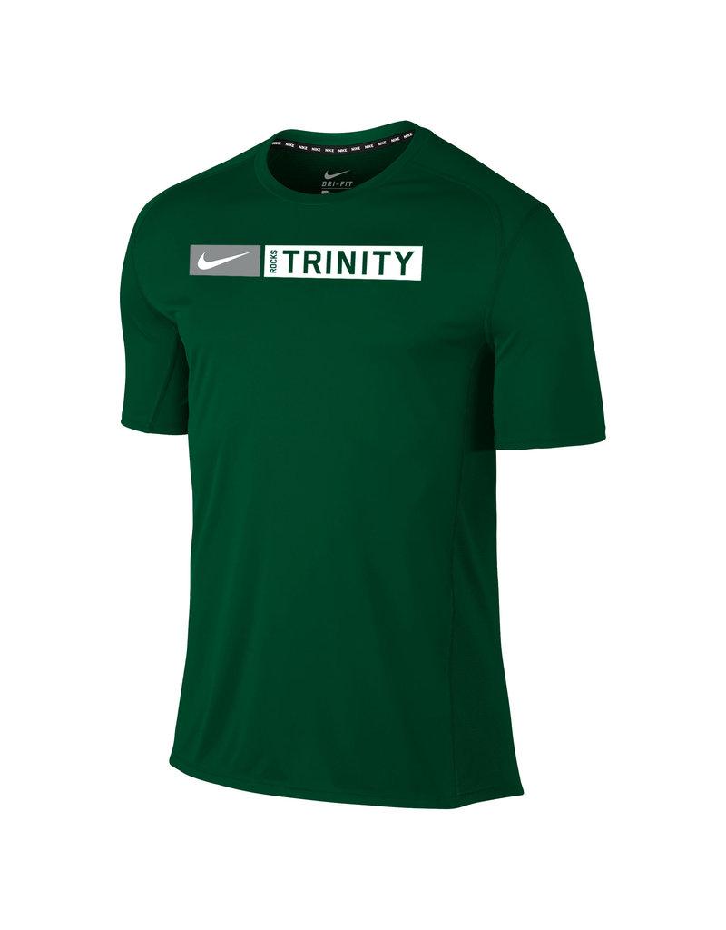 Nike Nike Miler Dri Fit Tee Green