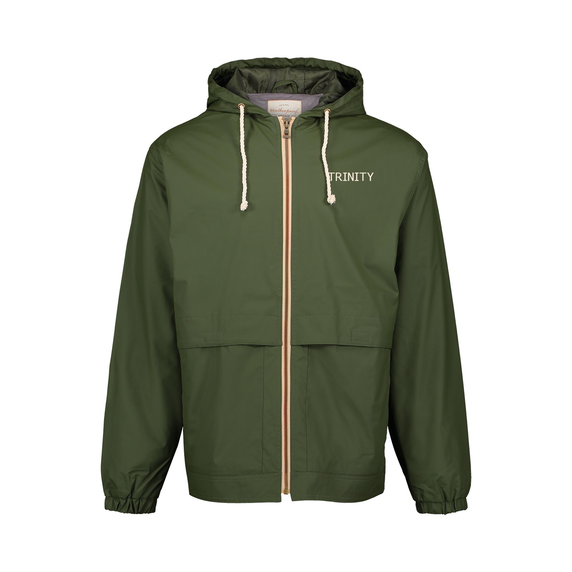 MV Sports Vintage Hooded Rain Jacket Green