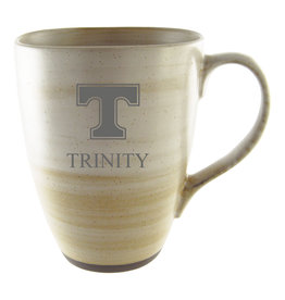 LXG Clay Ceramic Mug Tan Etched