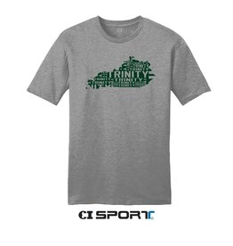 CDI SPORTS Light Weight Grey Tee State Directions Trinity