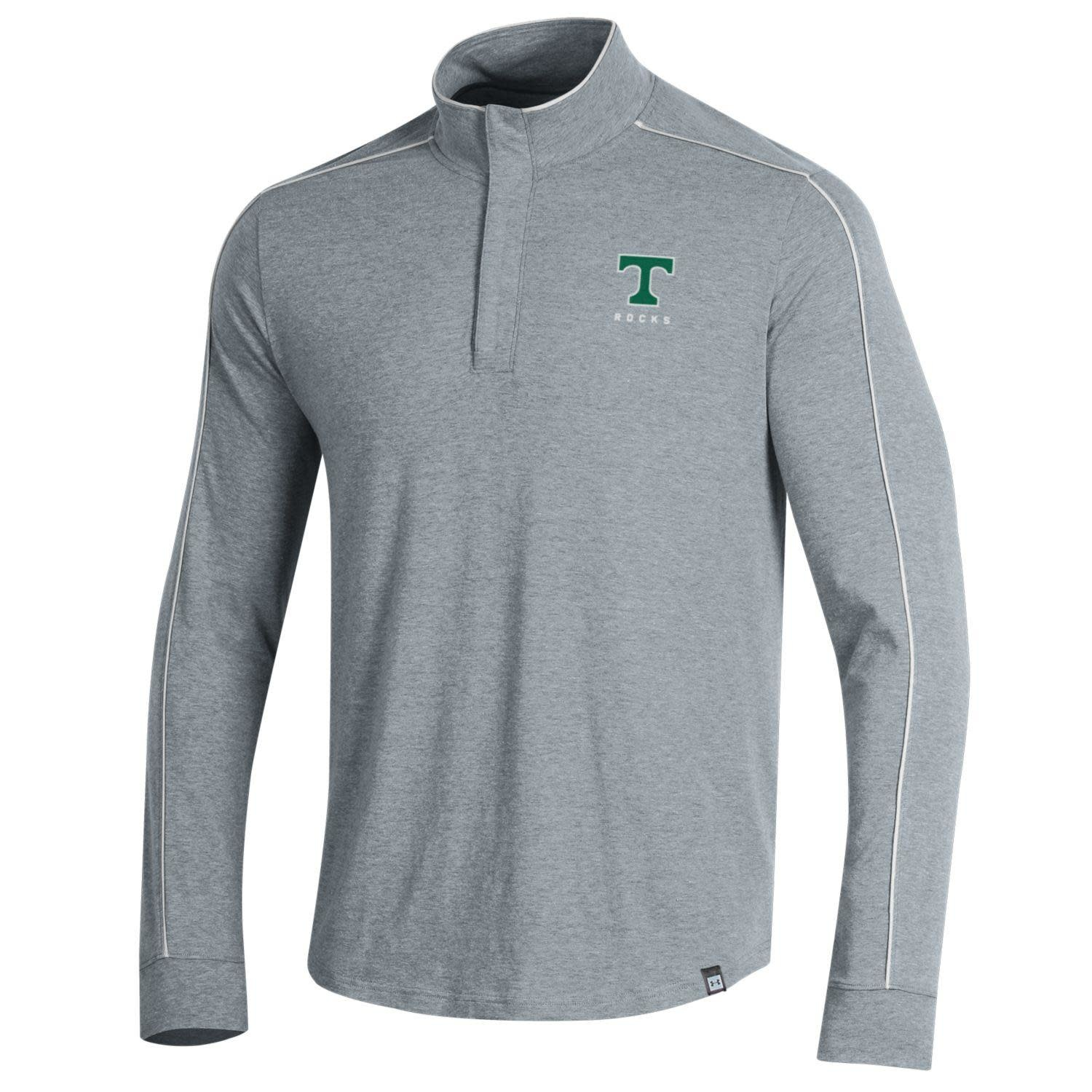 Under Armour Under Armour Piped Charged Cotton 1/4 Zip Grey