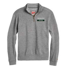 League League TriBlend Collegiate 1/4 Zip Grey Heather