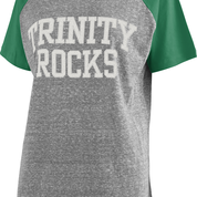 pressbox Pressbox Heather Grey and Green Tee