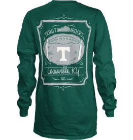 pressbox Pressbox Green Long Sleeve Football Tee