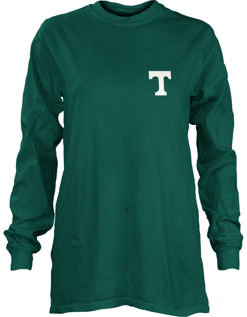 pressbox Final Sale Pressbox Green Long Sleeve Football Tee