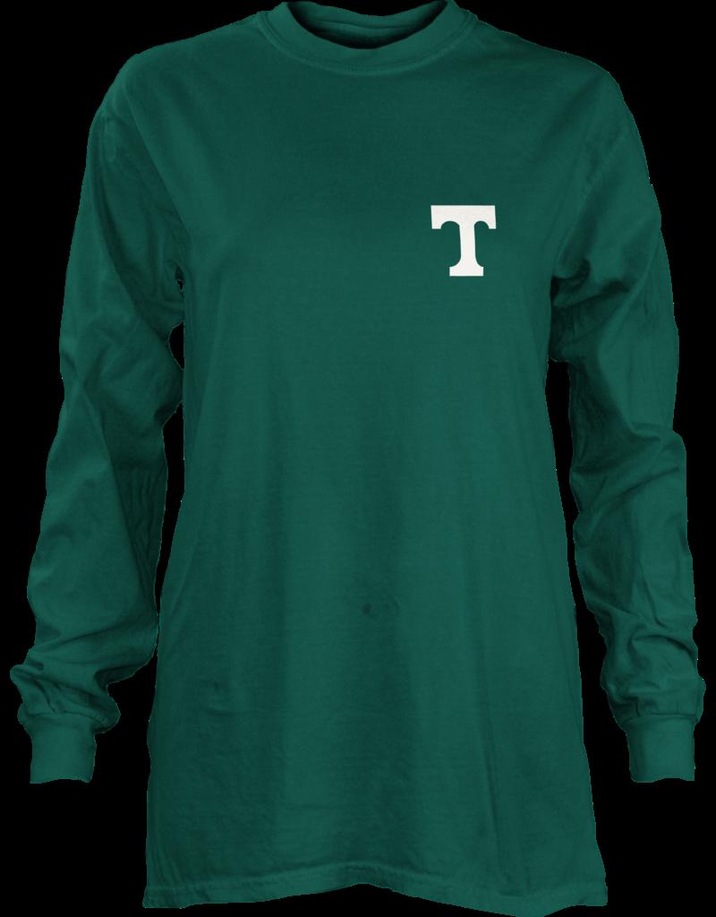 pressbox Pressbox Green Long Sleeve Football Tee
