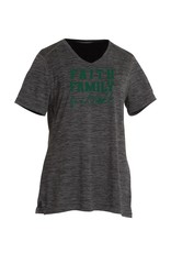 Charles River Final Football V-neck FFF Black