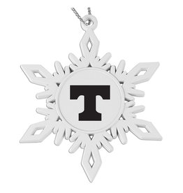 LXG Snowflake Ornament White Die Cast Metal